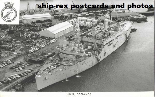 DEFIANCE (1972, Royal Navy) plain-back card